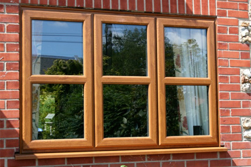 Oak effect UPVc window