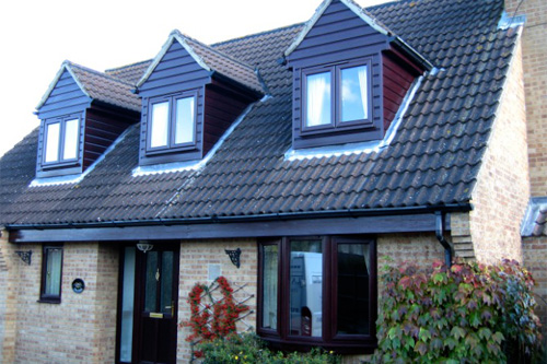 Rosewood effect windows and cladding