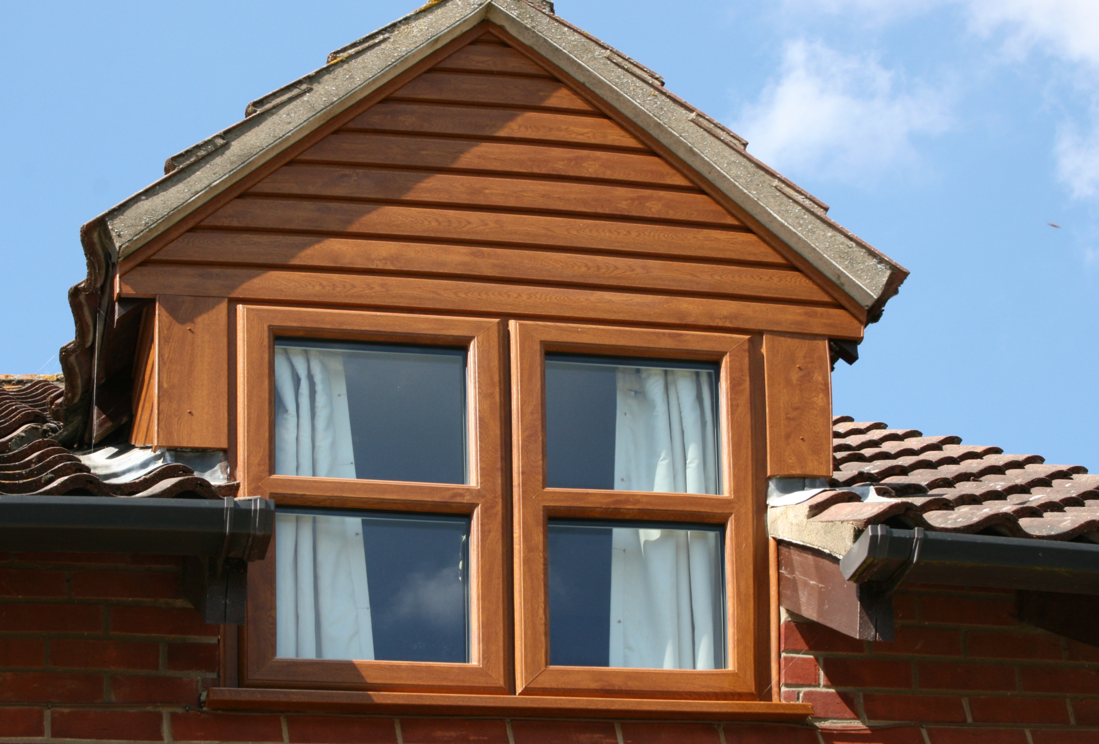 Oak effect windows and cladding