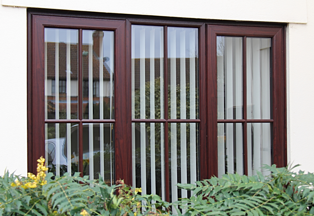 UPVc Rosewood effect with raised bars