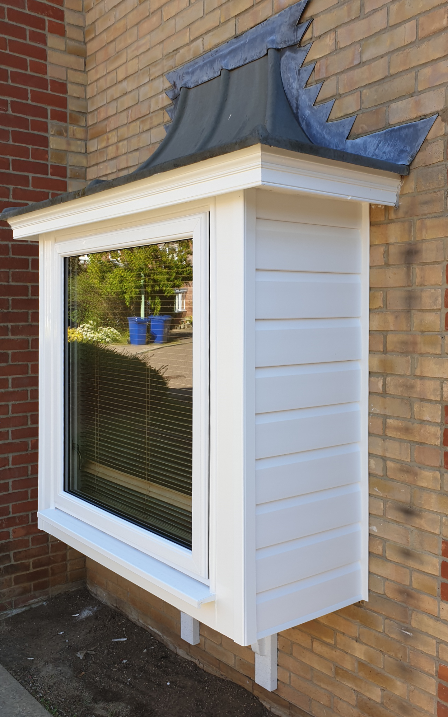 UPVc bay with cladding-smooth white